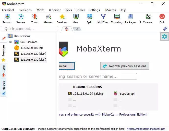 全能终端神器——MobaXterm-1
