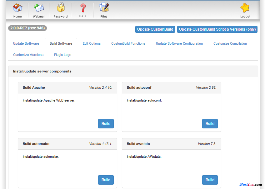 DirectAdmin 神插件之CustomBuild 2.0 UI-3