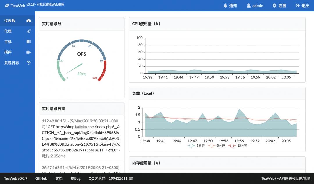 TeaWeb反代神器-可视化的Web代理服务-1