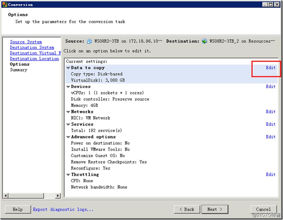 ESXi虚拟机磁盘格式转换与减小硬盘容量的方法-16
