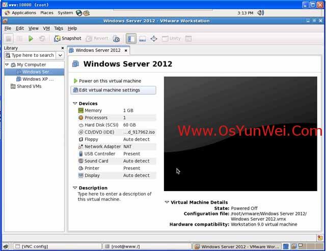 在Linux系统下的虚拟机VMware-Workstation中安装Windows Server 2012-32